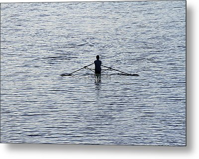 Rowing Metal Print by Juergen Roth