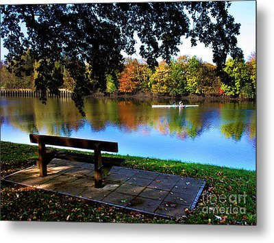 Rowing The Itchen In Autumn Metal Print by Terri Waters