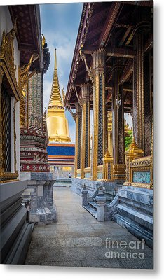 Royal Grand Palace Columns Metal Print by Inge Johnsson