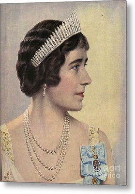 Royalty 1939 1930s Uk Queen Elizabeth Metal Print by The Advertising Archives