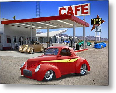 Roy's Gas Station 2 Metal Print by Mike McGlothlen