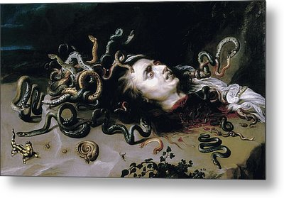 Rubens, Peter Paul 1577-1640. Head Metal Print by Everett