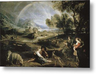Rubens, Peter Paul 1577-1640. Landscape Metal Print by Everett