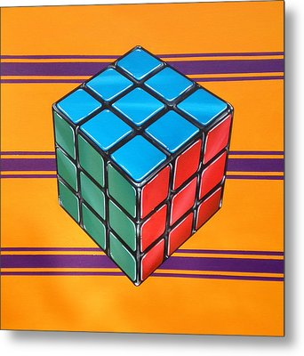 Rubiks Metal Print by Anthony Mezza