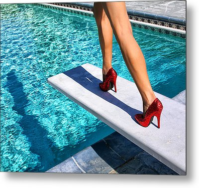 Ruby Heels Ready For Take-off Palm Springs Metal Print by William Dey