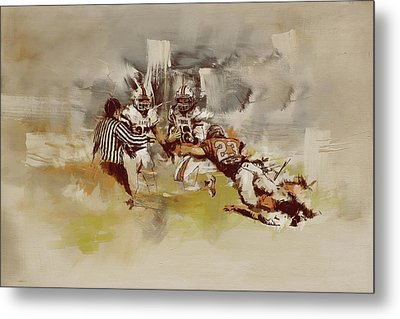 Rugby Metal Print by Corporate Art Task Force