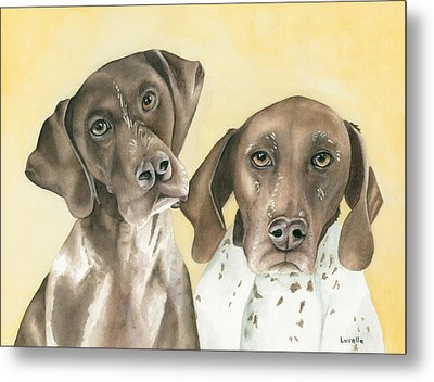 Ruger And Daisey   Metal Print by Kimberly Lavelle