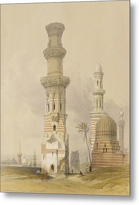 Ruined Mosques In The Desert Metal Print by David Roberts