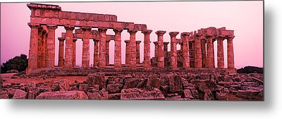 Ruins Of A Temple, Temple E, Selinunte Metal Print by Panoramic Images