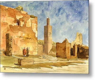 Ruins Of Chellah  Metal Print by Juan  Bosco