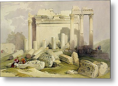 Ruins Of The Eastern Portico Metal Print by David Roberts