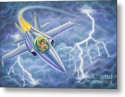 Ruler Of The Sky Metal Print by Phil Wilson