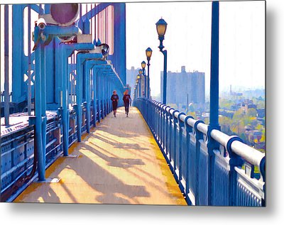 Running Across The Ben Metal Print by Bill Cannon