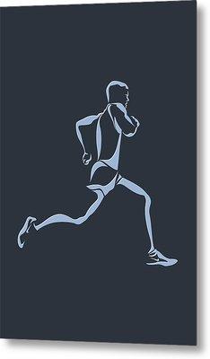 Running Runner12 Metal Print by Joe Hamilton