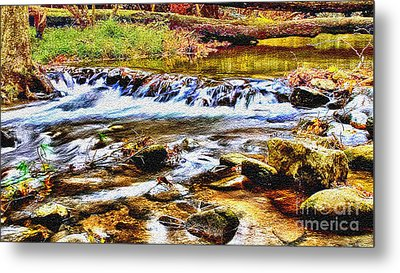 Running Stream In Yosemite National Park Metal Print by Bob and Nadine Johnston
