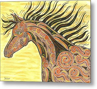 Running Wild Horse Metal Print by Susie WEBER
