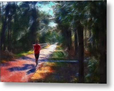 Running Metal Print by William Sargent