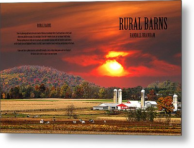 Rural Barns By Randall Branham Metal Print by Randall Branham