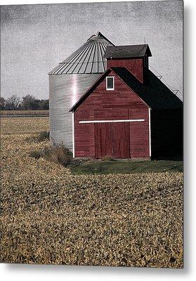 Rural Farm Scene Metal Print by Cassie Peters