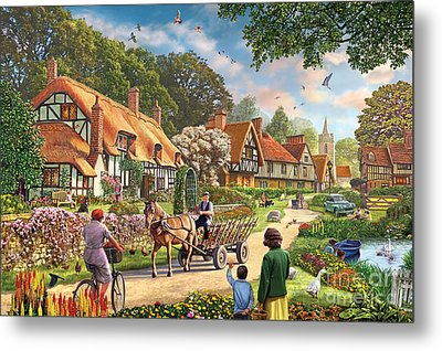 Rural Life Metal Print by Steve Crisp