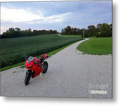 Rural Road In Indiana Metal Print by AntiHero