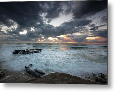 Rushing Seas Metal Print by Peter Tellone