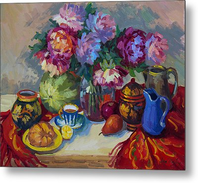 Russian Still Life Metal Print by Diane McClary