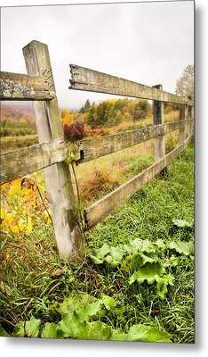 Rustic Landscapes - Broken Fence Metal Print by Gary Heller