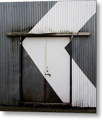 Rusty Door- Photographay Metal Print by Linda Woods