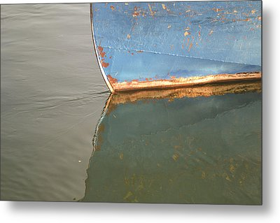 Rusty Hull Reflection Metal Print by Bill Mock