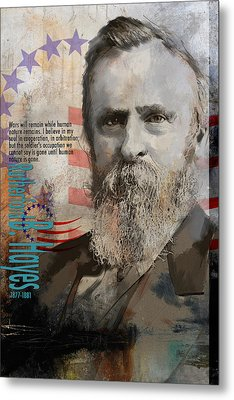 Rutherford B. Hayes Metal Print by Corporate Art Task Force