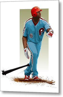 Ryan Howard Metal Print by Scott Weigner