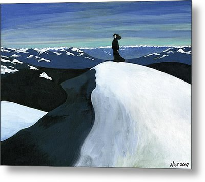 Ryder On The Mountain Metal Print by Holly  Whitstock Seeger
