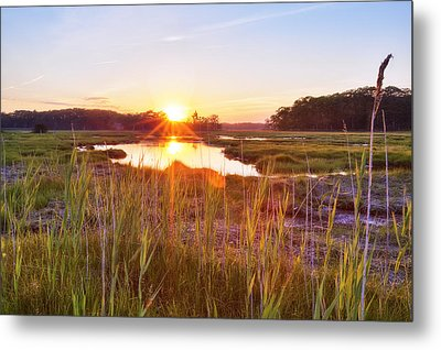 Rye Marsh Sunset Metal Print by Eric Gendron