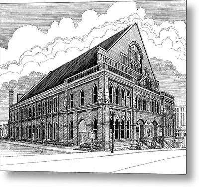 Ryman Auditorium In Nashville Tn Metal Print by Janet King