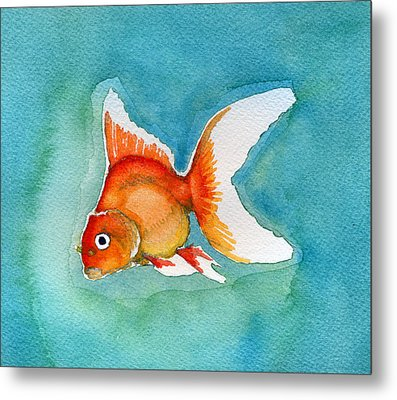 Ryukin Goldfish Metal Print by Katherine Miller