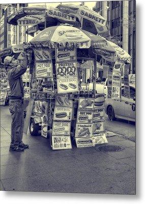 Sabrett Vendor New York City Metal Print by Dan Sproul