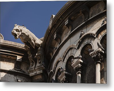 Sacre Coeur Gargoyle Metal Print by Art Ferrier
