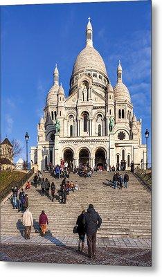 Sacre Coeur - Parisian Landmark Metal Print by Mark E Tisdale