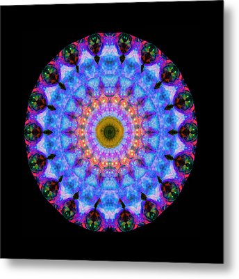 Sacred Crown - Mandala Art By Sharon Cummings Metal Print by Sharon Cummings