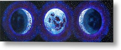 Sacred Feminine Blue Moon Metal Print by Shelley Irish