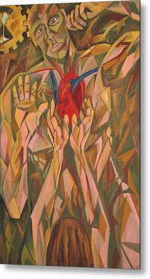 Sacred Heart And Thoughtful Mind Metal Print by Carter Gillis