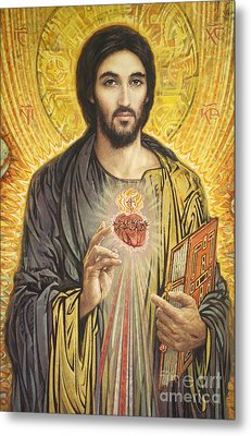 Sacred Heart Of Jesus Olmc Metal Print by Smith Catholic Art
