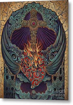 Sacred Heart Metal Print by Ricardo Chavez-Mendez
