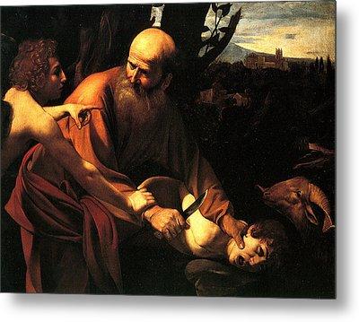 Sacrifice Of Issac Metal Print by Caravaggio