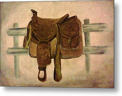 Saddle Up Metal Print by Christy Saunders Church