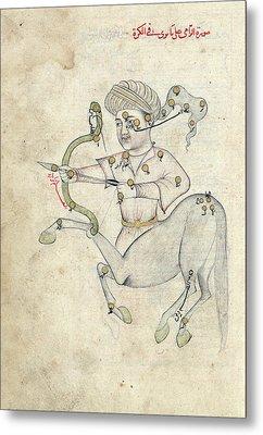 Sagittarius Constellation Metal Print by Library Of Congress