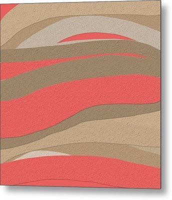 Sahara Sunset Metal Print by Bonnie Bruno