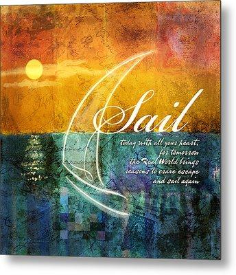 Sail Metal Print by Evie Cook