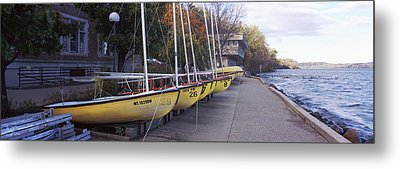 Sailboats In A Row, University Metal Print by Panoramic Images